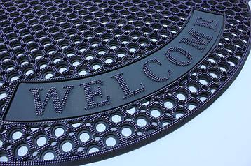 """Резиновый коврик """"Welcome"""" 80х120 (фиолетовый)"""