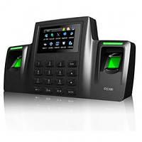 Биометрический терминал ZKTeco DS100 для учета посещаемости пользователей по отпечаткам пальцев, фото 1