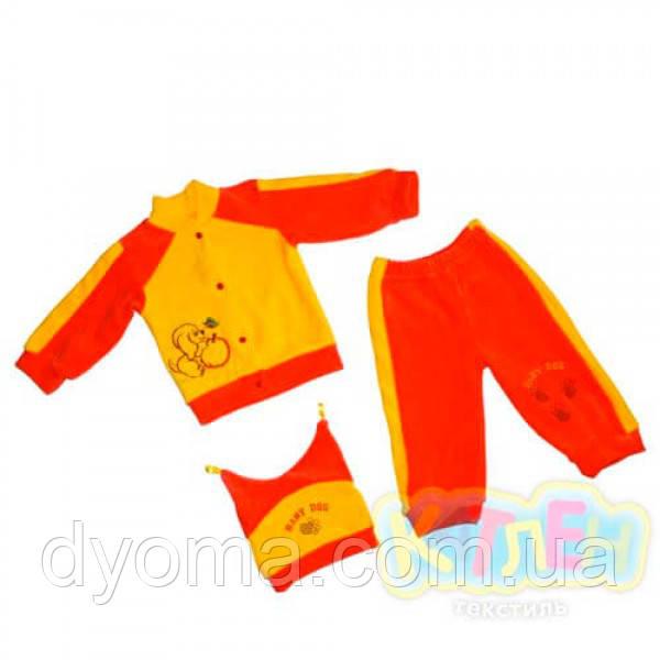 """Детский велюровый костюм """"Дружочек"""" для новорожденных"""