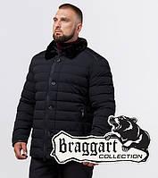 Куртка зимняя с воротником из натурального кролика Braggart Dress Code - 17768E черная