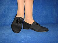 Замшевые женские черные туфли на маленьком каблуке 38 р 24,5 см