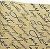 Бумага флористическая Письмо на крафте