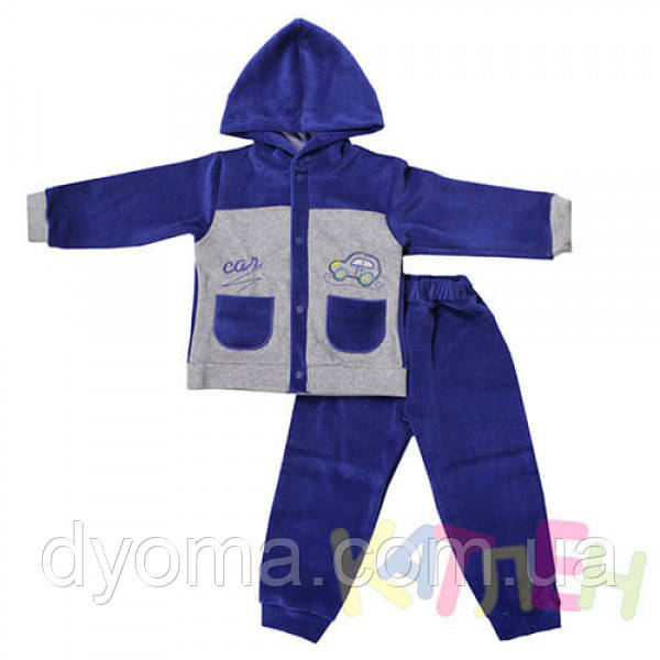 """Детский велюровый костюм """"Малыш"""" для новорожденных"""