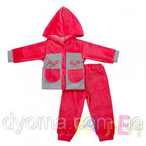 """Детский велюровый костюм """"Малыш"""" для новорожденных, фото 2"""