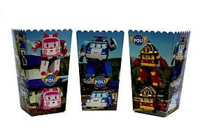 """Коробки для попкорну """"Робокар Полі"""". В упак: 5 штук"""