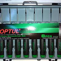 Набор отверток для точных работ TOPTUL 8 шт. (PH000-PH0, SL1.2-SL3) 8 ед. GAAW0802