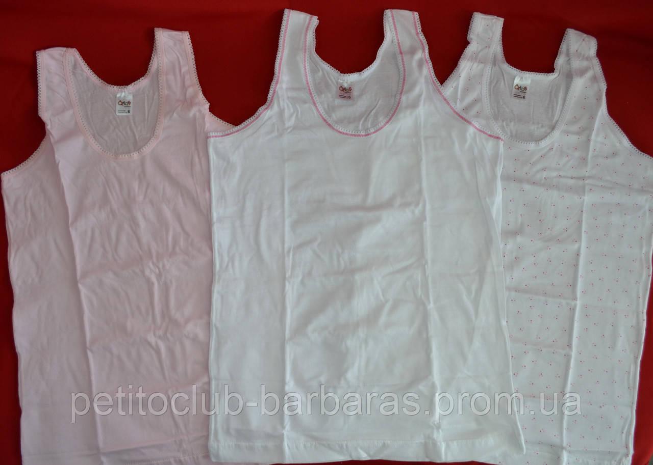 Набор хлопковых маек для девочки (3 шт) (Oztas, Турция)