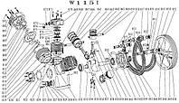 Запчастини до поршневому блоку W-115