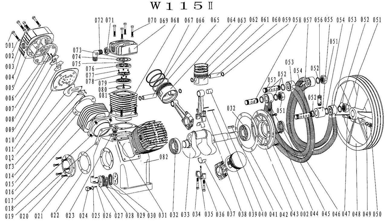 Запчасти к поршневому блоку W-115