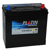 Автомобильный аккумулятор PLATIN Premium JP 6CT- 55Aз 440A R SMF (тонкая+адаптор)
