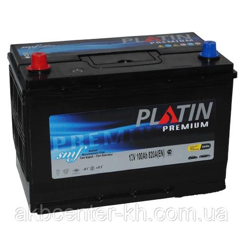 Автомобильный аккумулятор PLATIN Premium JP 6CT-100Aз 820A L SMF нижнее крепление