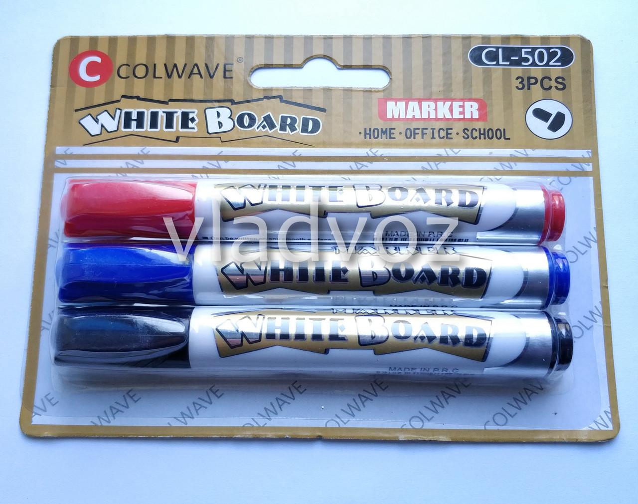 Набор 3 маркера для белой доски флипчарта