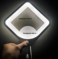 Современное светодиодное бра led черный квадрат, фото 1