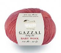 Gazzal Baby Wool пряжа мериносовая шерсть с кашемиром и акрилом.
