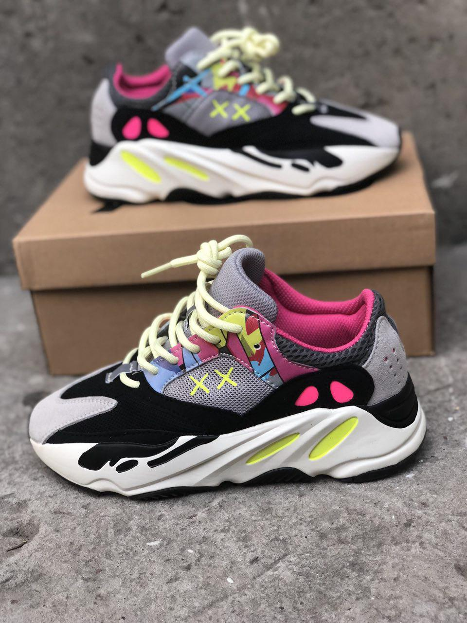 super popular b1566 f315e Женские кроссовки Kaws x adidas Yeezy Boost 700 Wave Runner
