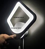 Сучасне світлодіодне бра led білий квадрат, фото 1