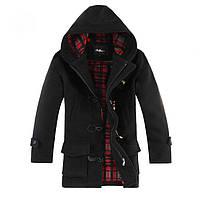 Мужское пальто. Черный цвет. XL