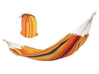 Двухместный гамак (XXL 220x160 см). Цвет оранжевый.