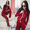 Спортивный костюм женский на молнии, красный