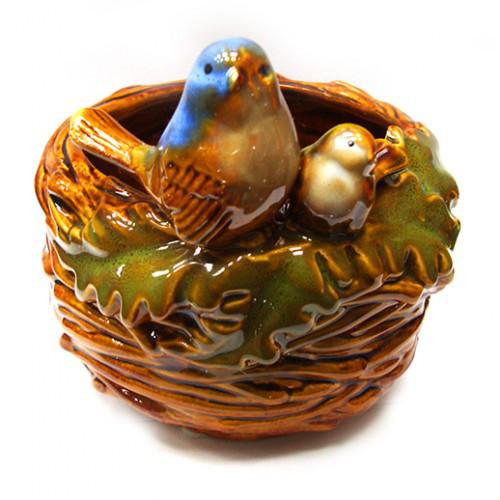 Конфетница из керамики Гнездо синичек