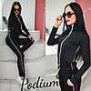 Черный спортивный костюм женский на молнии