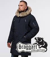 Парка зимняя мужская Braggart - 13475R темно-синий