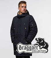 Парка зимняя с искусственной овчиной Braggart - 90520A темно-синий