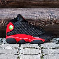 """Мужские баскетбольные кроссовки Nike Air Jordan 13 """"Black/Red"""" реплика"""