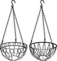 Підвісне кашпо, діаметр 26 см, висота з ланцюгом та крюком 53,5см// PALISAD