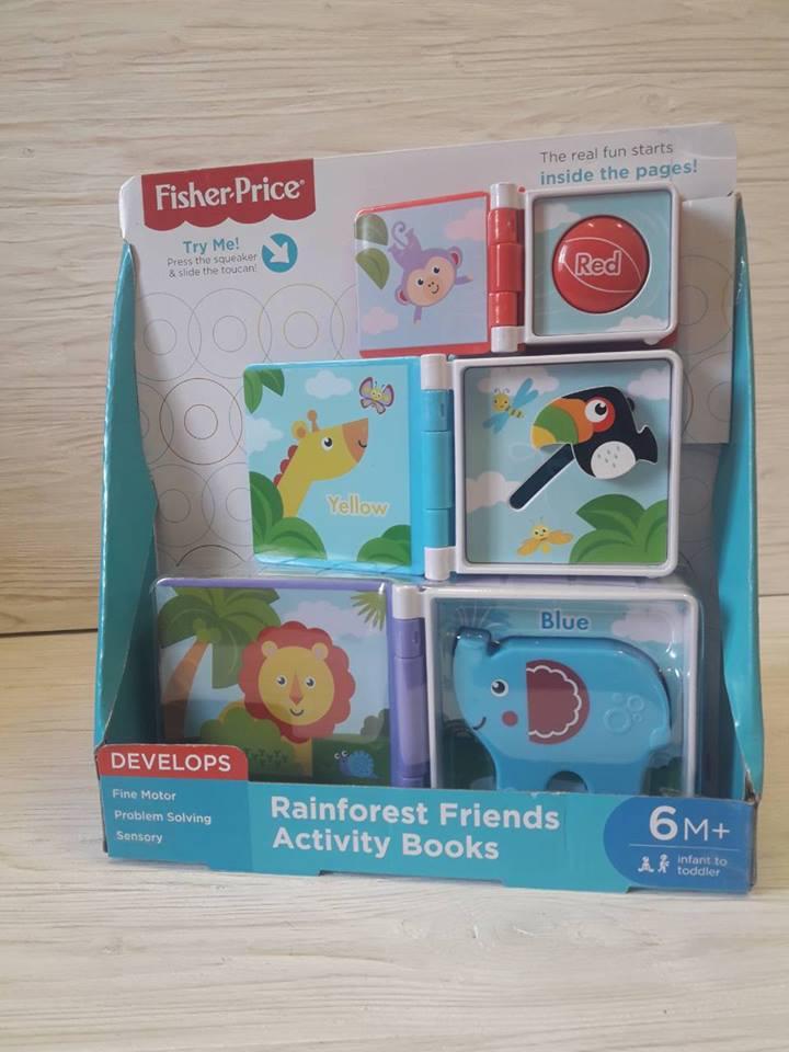 Fisher-Price игровой набор, книги для малышей от 6 мес.