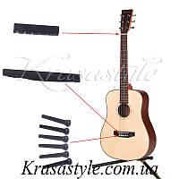 Мост и клипсы для акустической гитары