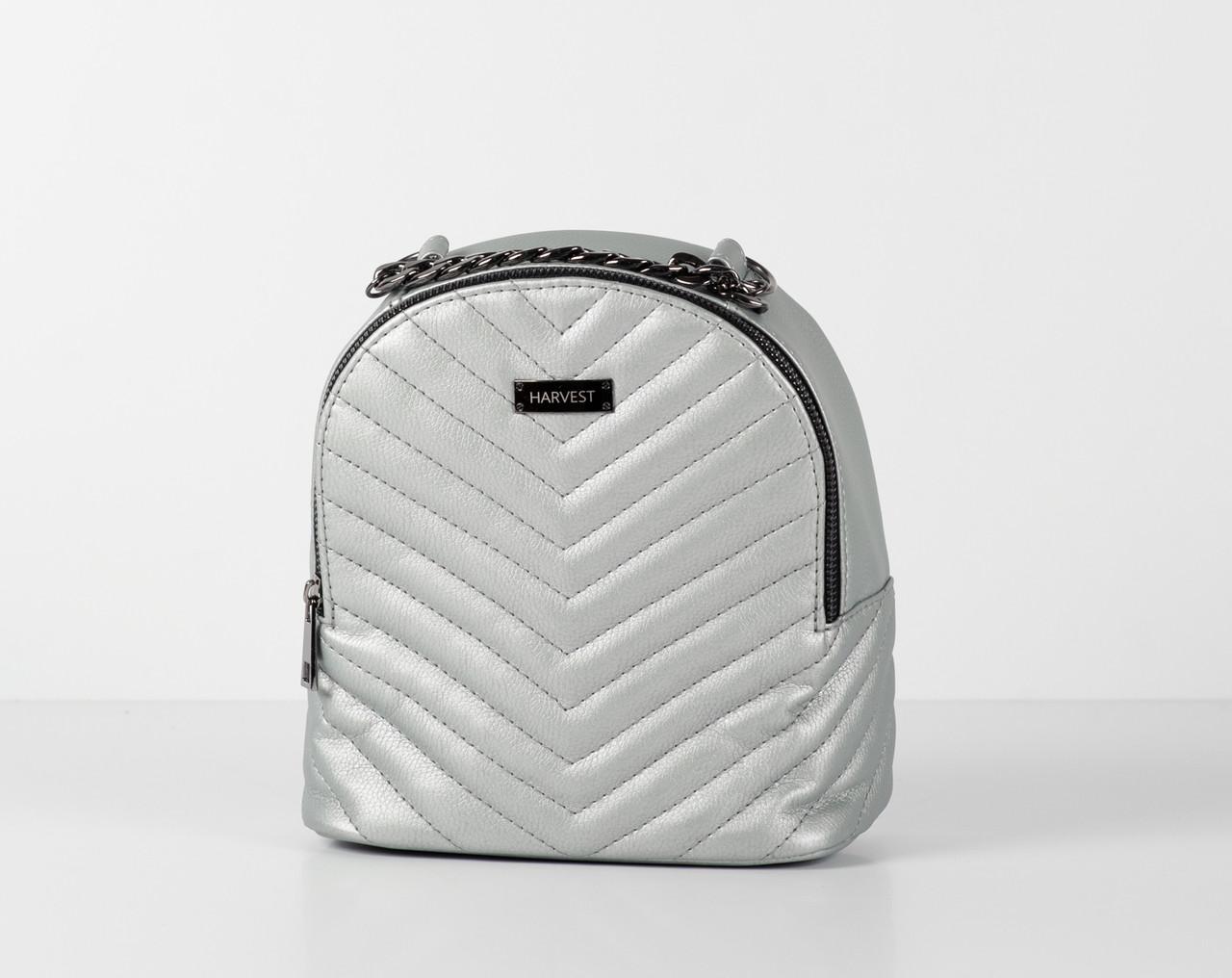 4296e03b3e96 Женский рюкзак сумка серебристый эко-кожа HARVEST (женский рюкзак, сумка  женская, сумка