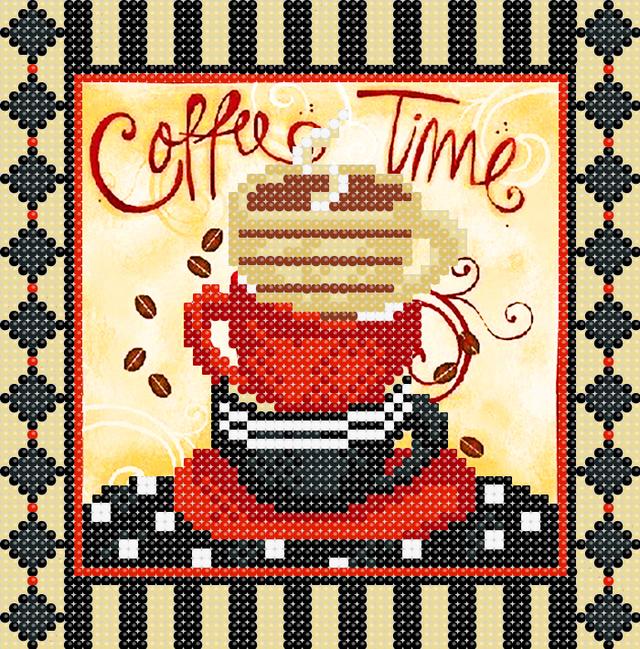 кава, схема, схема для вишивки бісером, натюрморт, купити в україні