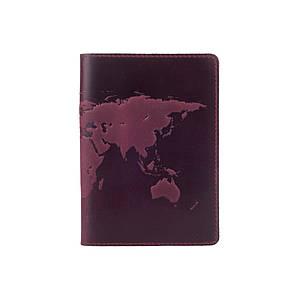 "Обложка для паспорта HiArt PC-01 Shabby Plum ""World Map"""