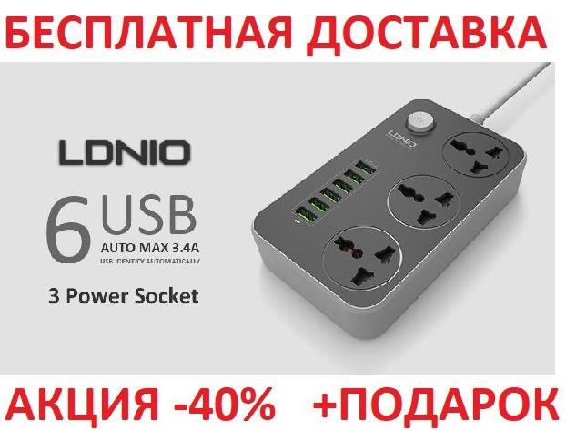 Сетевой фильтр-удлинитель LDNIO SE3631 2 метра кабель