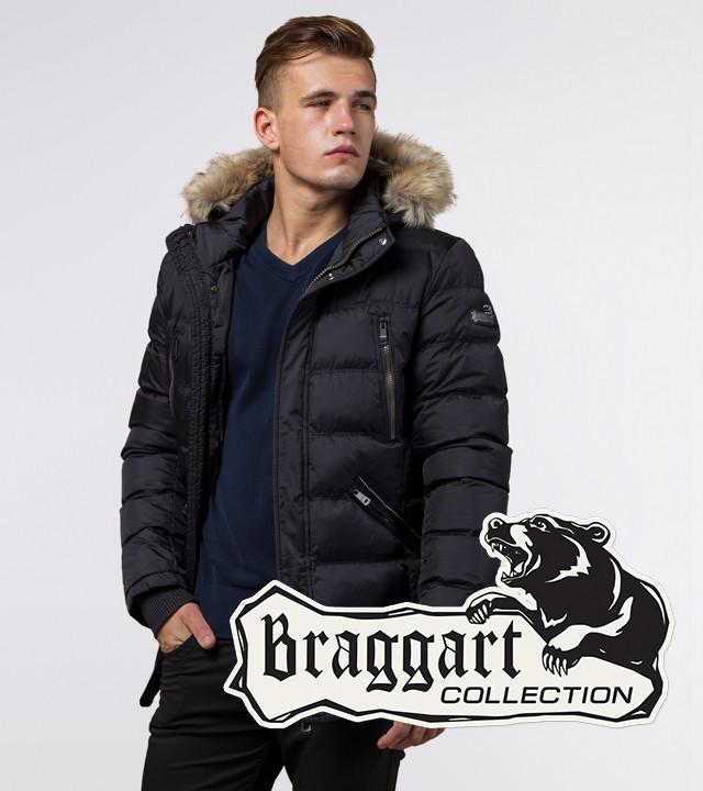 Куртка мужская с опушкой Braggart 31042 черный