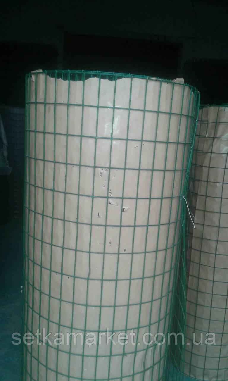 Cетка  сварная в полимерном покрытии, ячейка 25 х 50 х1,8 мм.