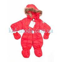 Комбинезон детский Moncler с меховым капюшоном