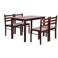 Комплект обеденный Брауни (стол+4 стула), TM AMF