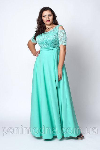 Нарядное женское платье. Большые размеры -  код 568