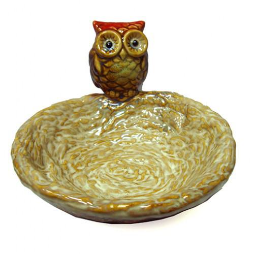 Конфетница из керамики Сова