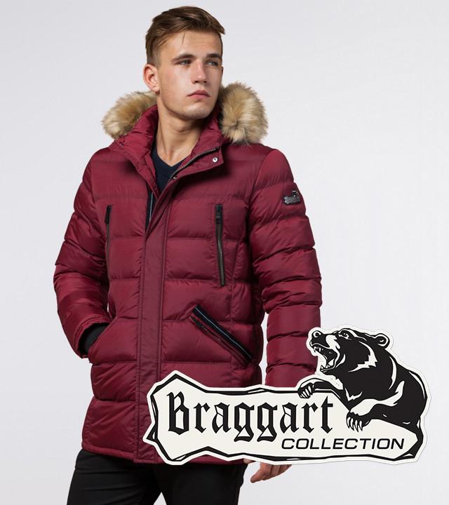 Куртка мужская зимняя с опушкой Braggart 31042 бордовый