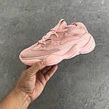 "Женские кроссовки Adidas Yeezy Boost 500 ""Pink"".  Живое фото. (Реплика ААА+), фото 2"