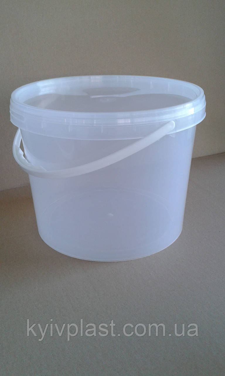 Ведро пластиковое пищевое 3л прозрачное