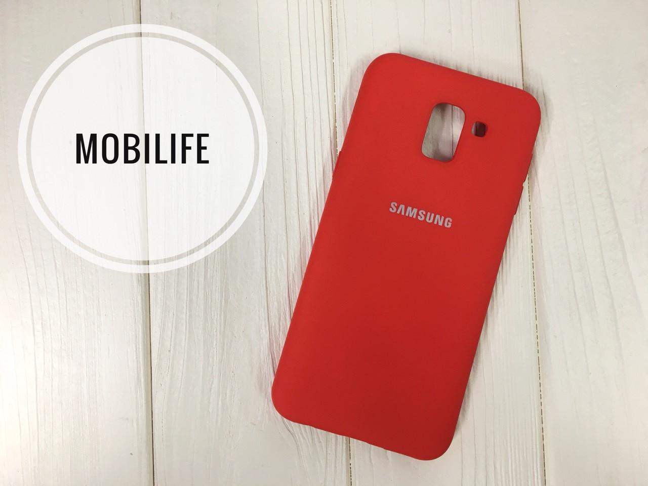 Silicon case Samsung J6 2018 red