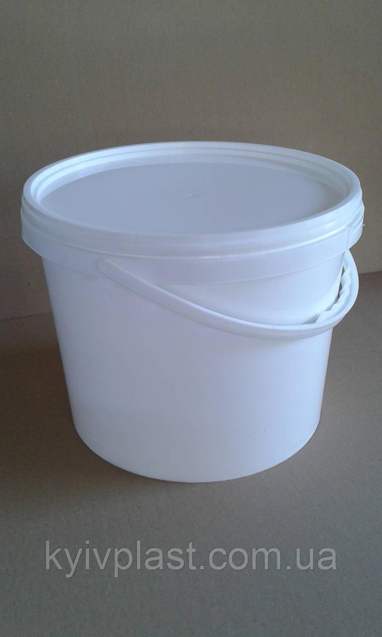 Ведро пластиковое пищевое 3л белое