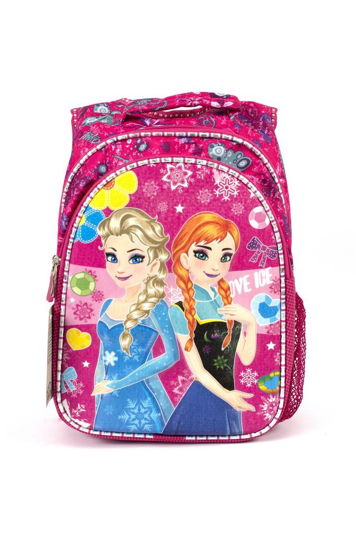 Рюкзак школьный 3D Эльза 1254 розовый Турция