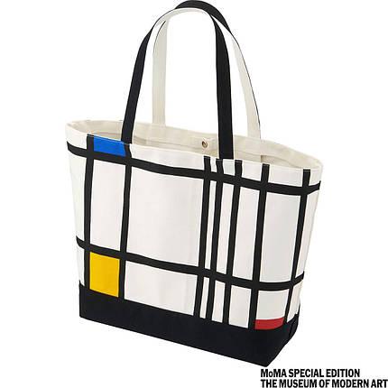 Сумка Uniqlo Women SPRZ NY (Piet Mondrian) Tote Bag WHITE, фото 2