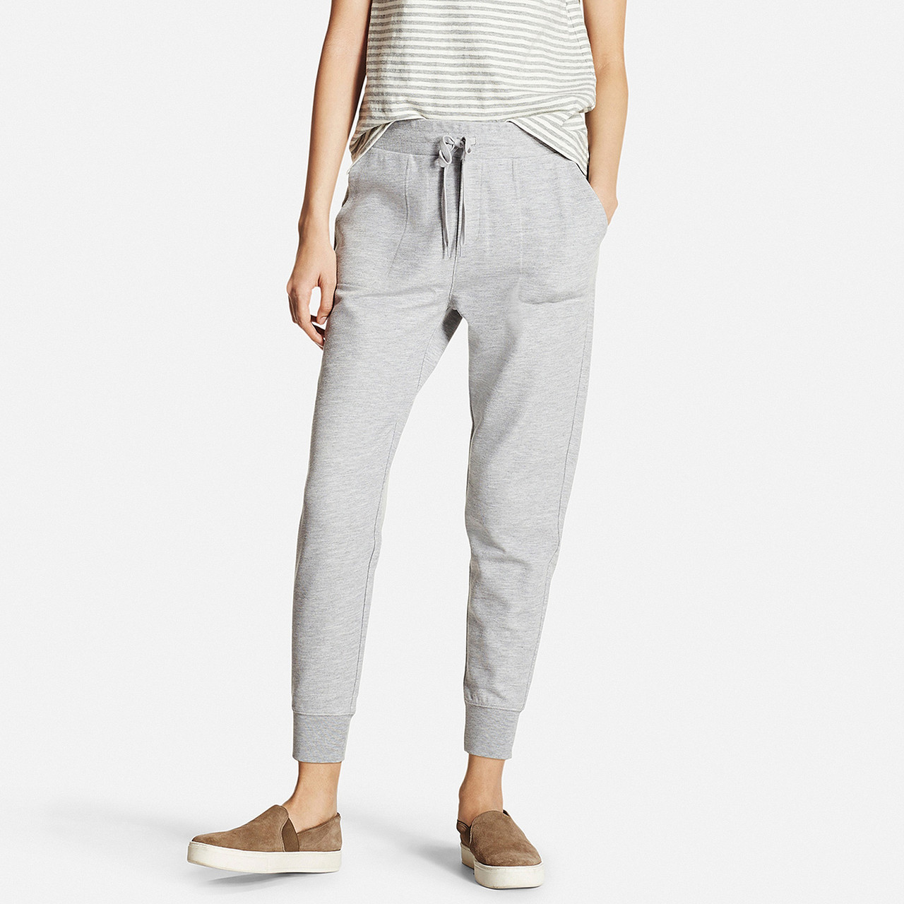 Спортивные капри Uniqlo Women Milano Ribbed Joggers GRAY