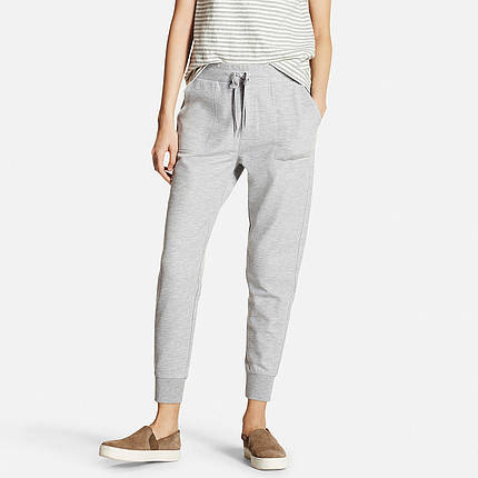 Спортивные капри Uniqlo Women Milano Ribbed Joggers GRAY, фото 2